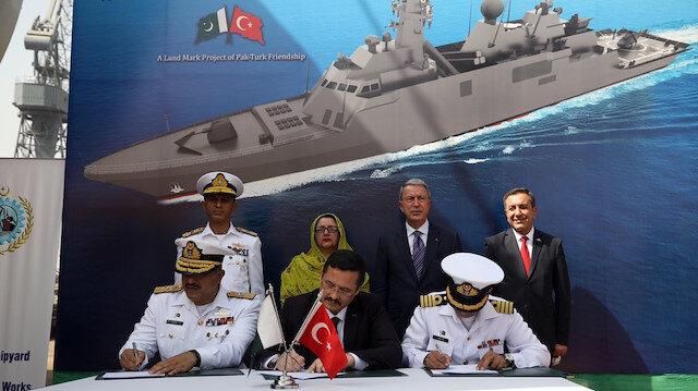 Construction of third Turkish warship for Pakistan starts