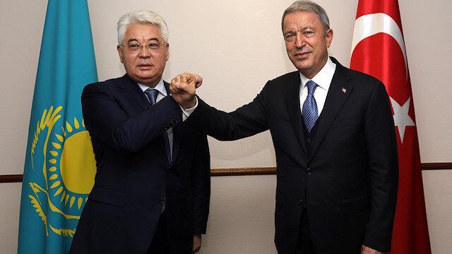 Turkish National Defense Minister Hulusi Akar in Kazakhstan