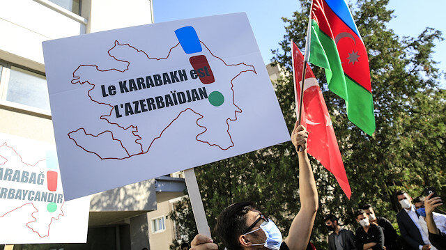 Protest in Ankara over the stance of France on Karabakh