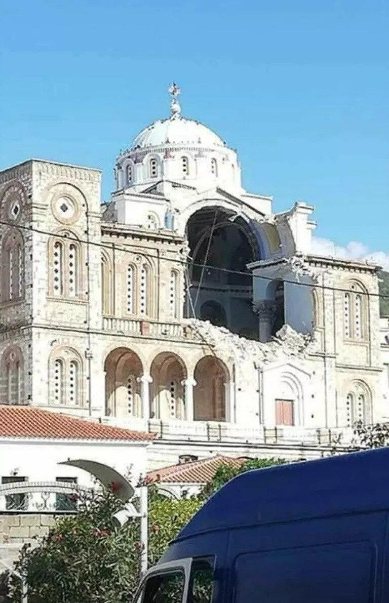 Samos adası, depremin merkez üssü olarak belirtildi.