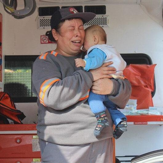 Yanan arabada bebeğinin olduğunu sandı: Sinir krizi geçirdi