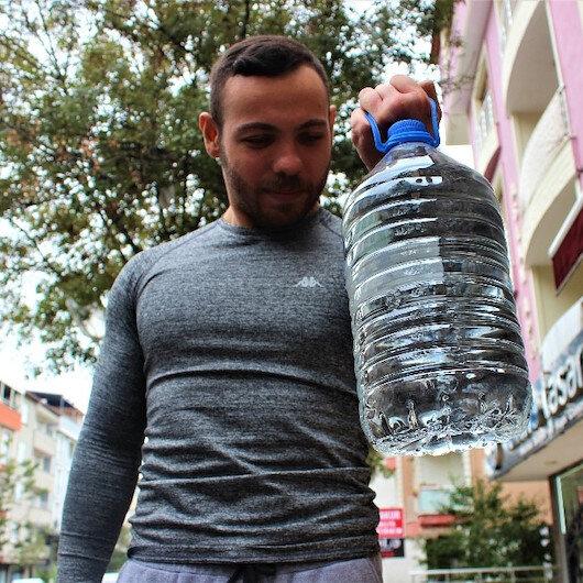 Beş litre damacana ile Türkiye şampiyonu oldu