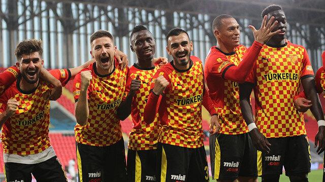Göztepeli futbolcuların gol sevinçleri