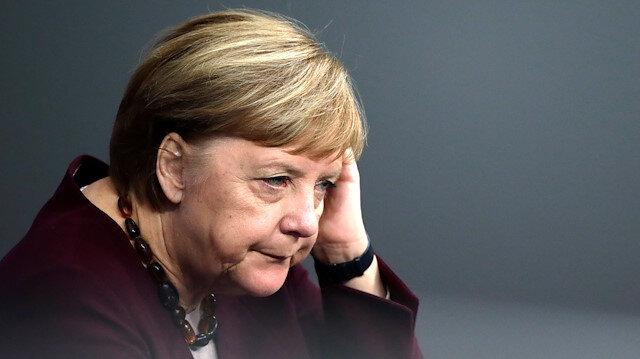 German Chancellor Angela Merkel is seen