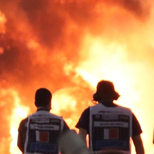 Grosjean escapes fiery crash in Bahrain, Hamilton wins