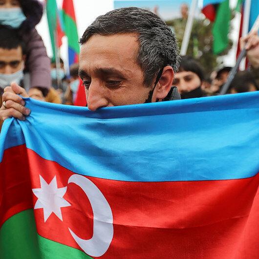 Azerbaijani flag hoisted in recently freed Lachin city