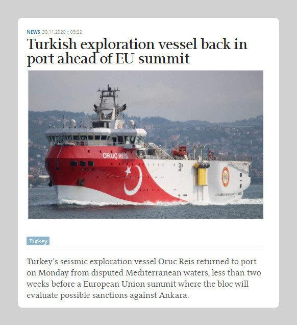 Yunan gazetesi Kathimerini'nin haberi.