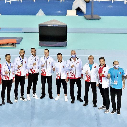 المنتخب التركي يحرز 8 ميداليات في بطولة أوروبا للجمباز الفني