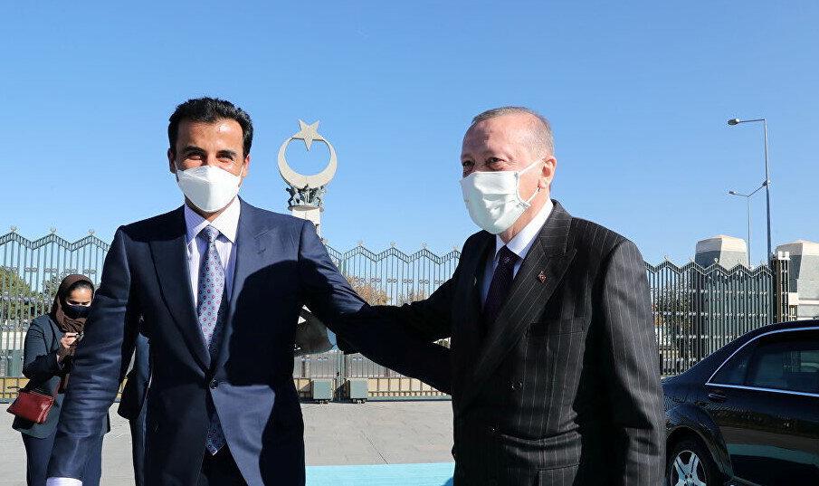 Katar Emiri Şeyh Tamim ve Cumhurbaşkanı Erdoğan