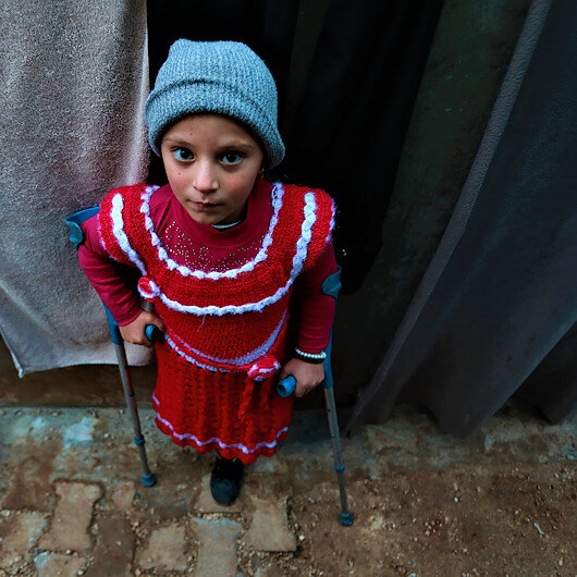 Disabled Syrian girl hopes to walk again