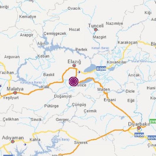 Elazığ'da deprem: 11.57 kilometre derinlikte 4.1 şiddetinde gerçekleşti