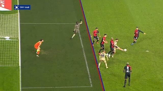 Aynı pozisyon farklı kararlar: Trabzonspor - Galatasaray maçında akıllara Fenerbahçe geldi