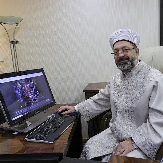 """رئيس الشؤون الدينية التركي يشارك بالتصويت على """"صورة الأناضول 2020"""""""