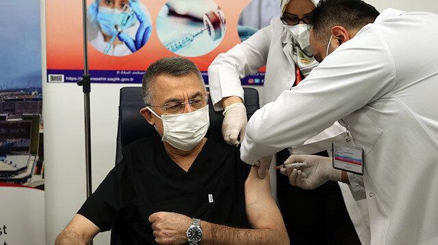 Turkish Vice President Fuat Oktay receives COVID-19 vaccine