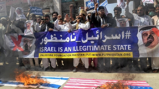 باكستان.. مظاهرة في كراتشي لمناهضة التطبيع مع إسرائيل