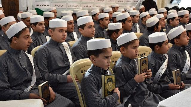 """""""الديانة"""" التركي: تخريج 105 من حفظة القرآن بأعزاز السورية"""
