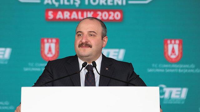 Industry Minister Mustafa Varank