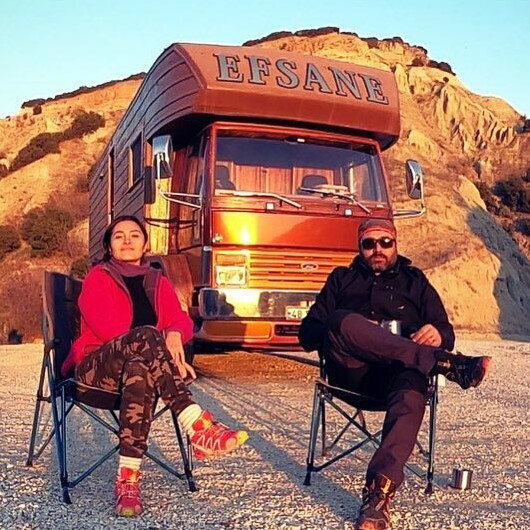 Formula for happiness: Turkish couple moves into caravan after trauma in big city