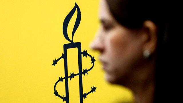 The logo of Amnesty International