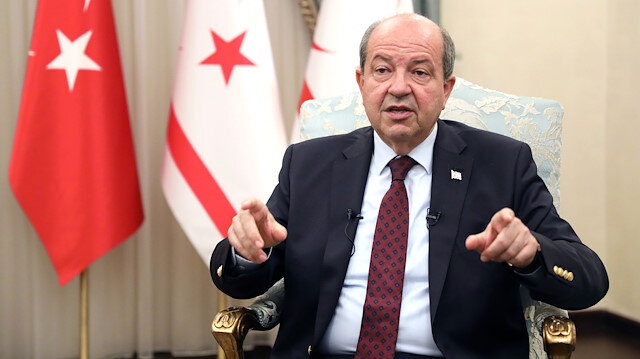 Ersin Tatar, the president of the Turkish Republic of Northern Cyprus (TRNC)