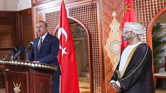 Turkish Foreign Minister Mevlut Cavusoglu in Oman
