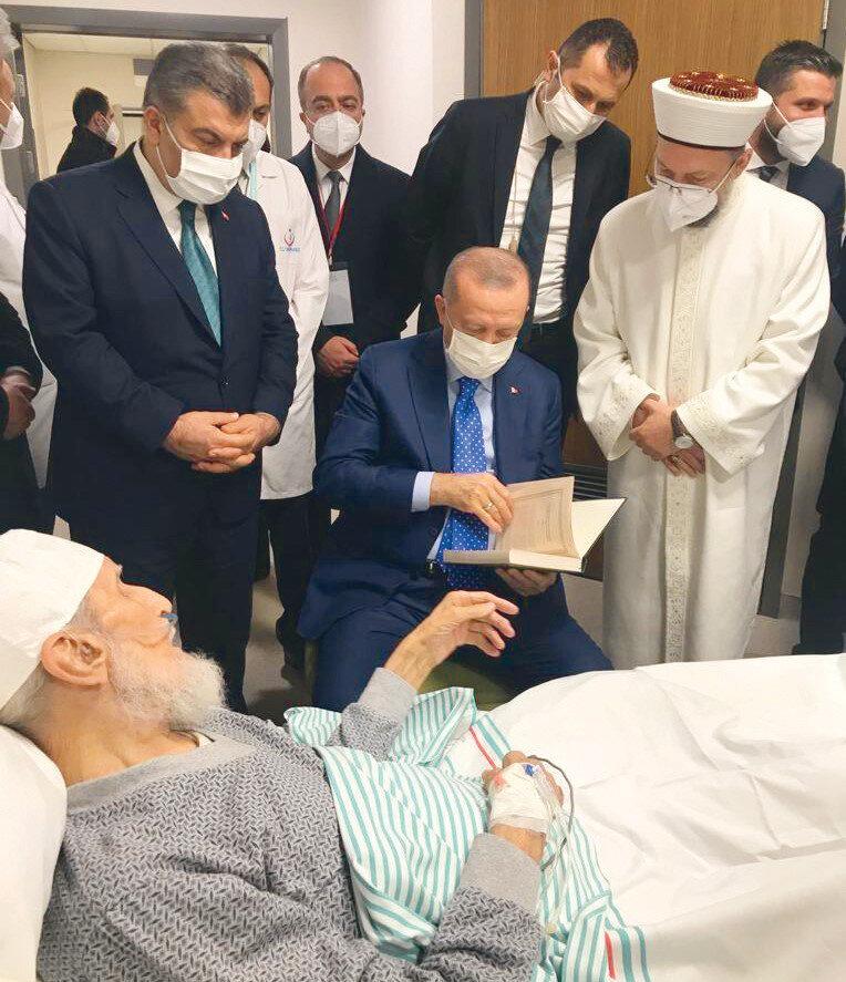 Erdoğan, Hafız Abdullah Nazırlı'yı hastanede ziyaret etmişti. Nazırlı, ziyarette Erdoğan'dan vefat ettiğinde cenazesine katılmasını istemişti.