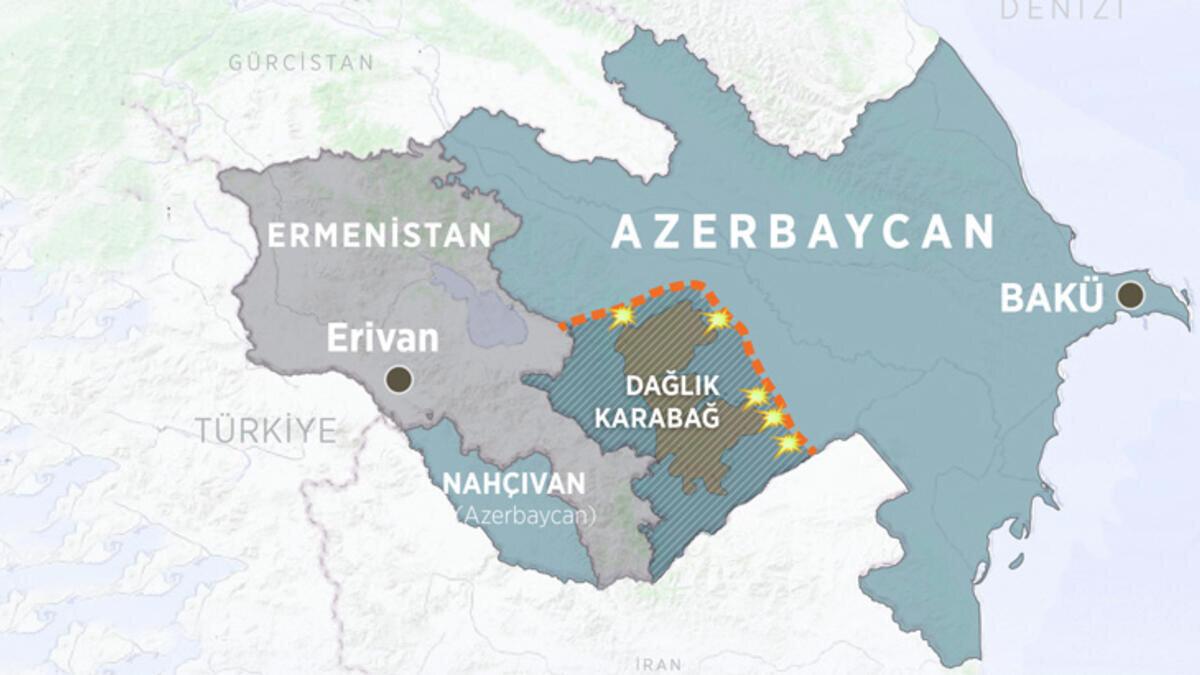 44 günlük savaş sonrası Ermenistan işgal altında tuttuğu Dağlık Karabağ bölgesini kaybetti.