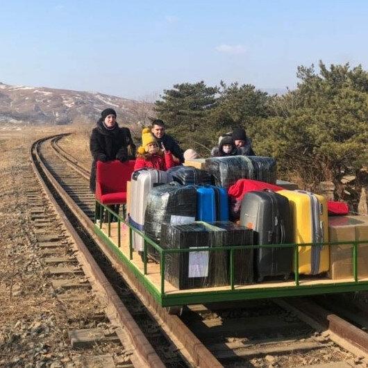 Rus diplomatların Kuzey Kore'den dönüş anları gündem oldu