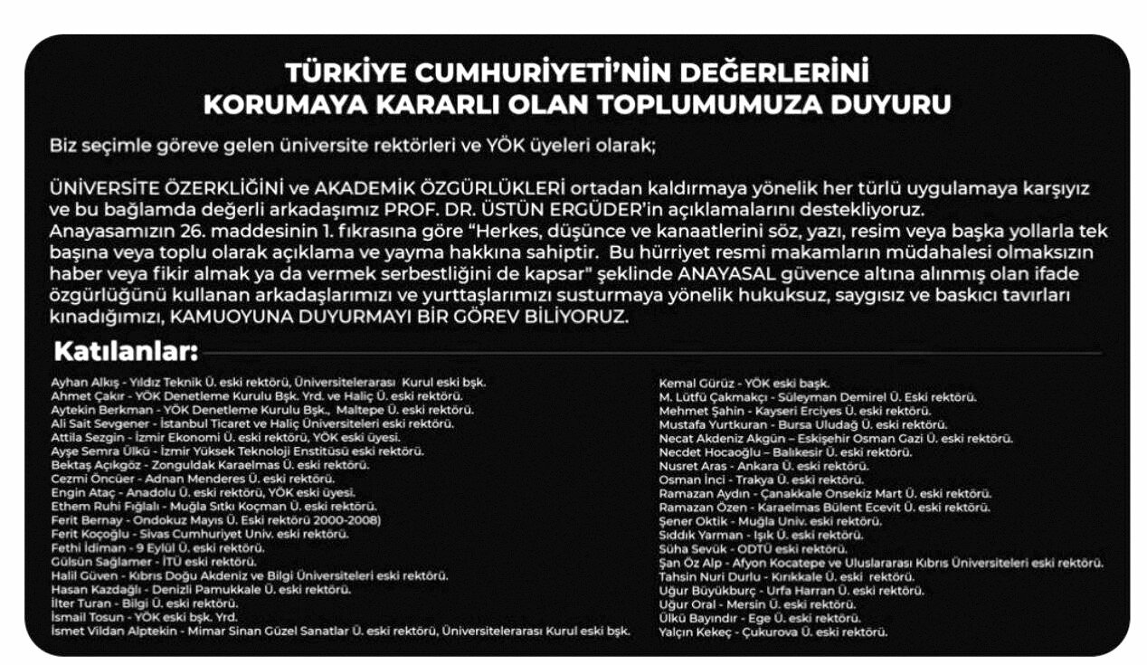 28 Şubat sürecinde terör estiren rektörler Boğaziçi Üniversitesi için ortaya çıktı. İşte o liste...