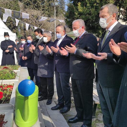 TBMM Başkanı Şentop, merhum Başbakan Necmettin Erbakan'ın kabrini ziyaret etti