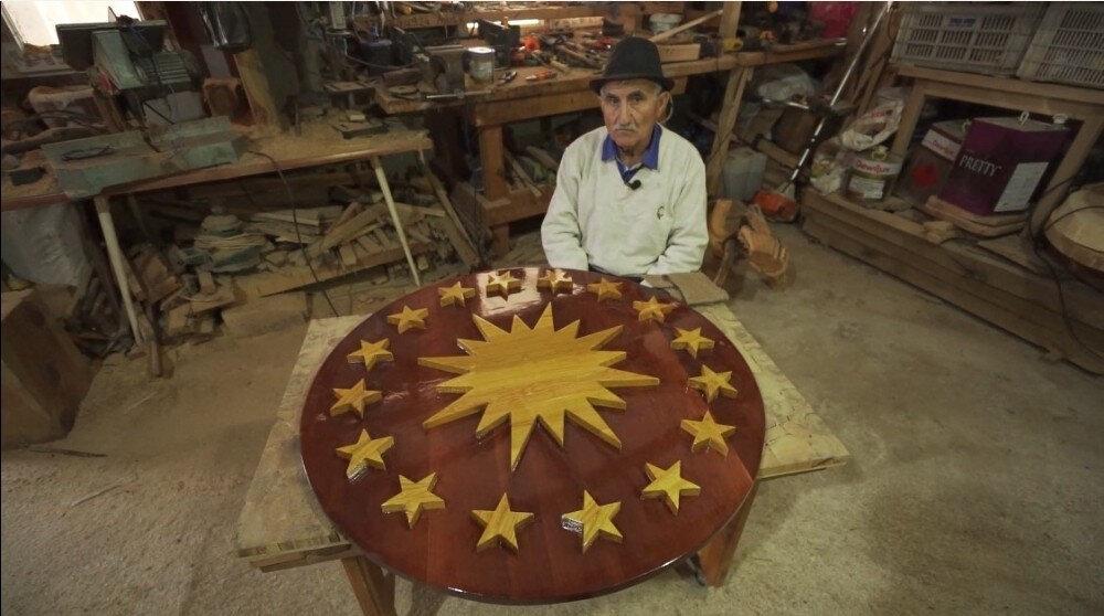 Cumhurbaşkanlığı forsundaki güneşin Türkiye'yi temsil ediyor.