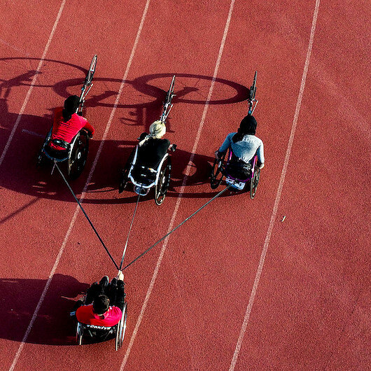 Turkish wheelchair athletic team eye Olympic quota