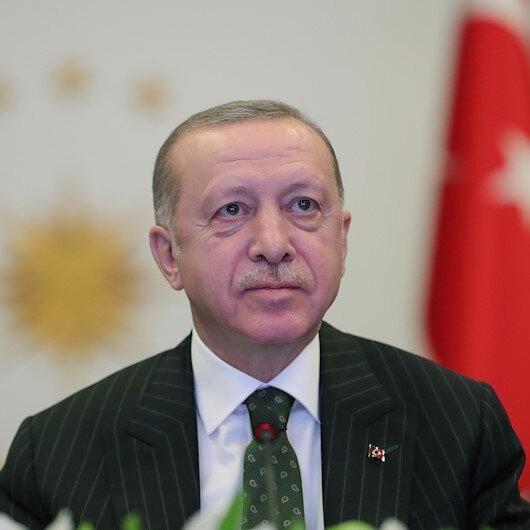Erdoğan addresses leaders at economic summit