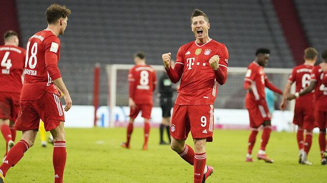 Lewandowski-Haaland gol düellosunun kazananı Bayern Münih