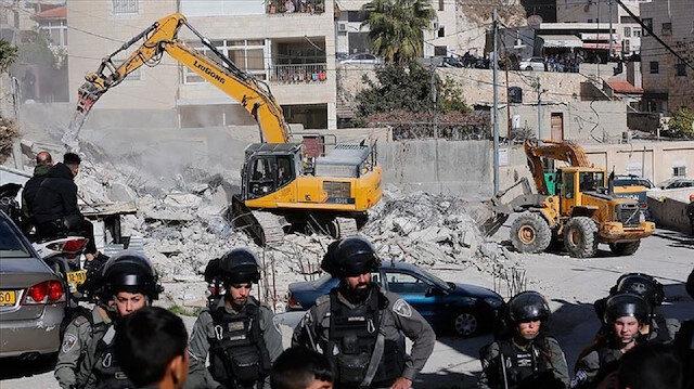 جيش الاحتلال الإسرائيلي يهدم منزلا قيد الإنشاء بالضفة