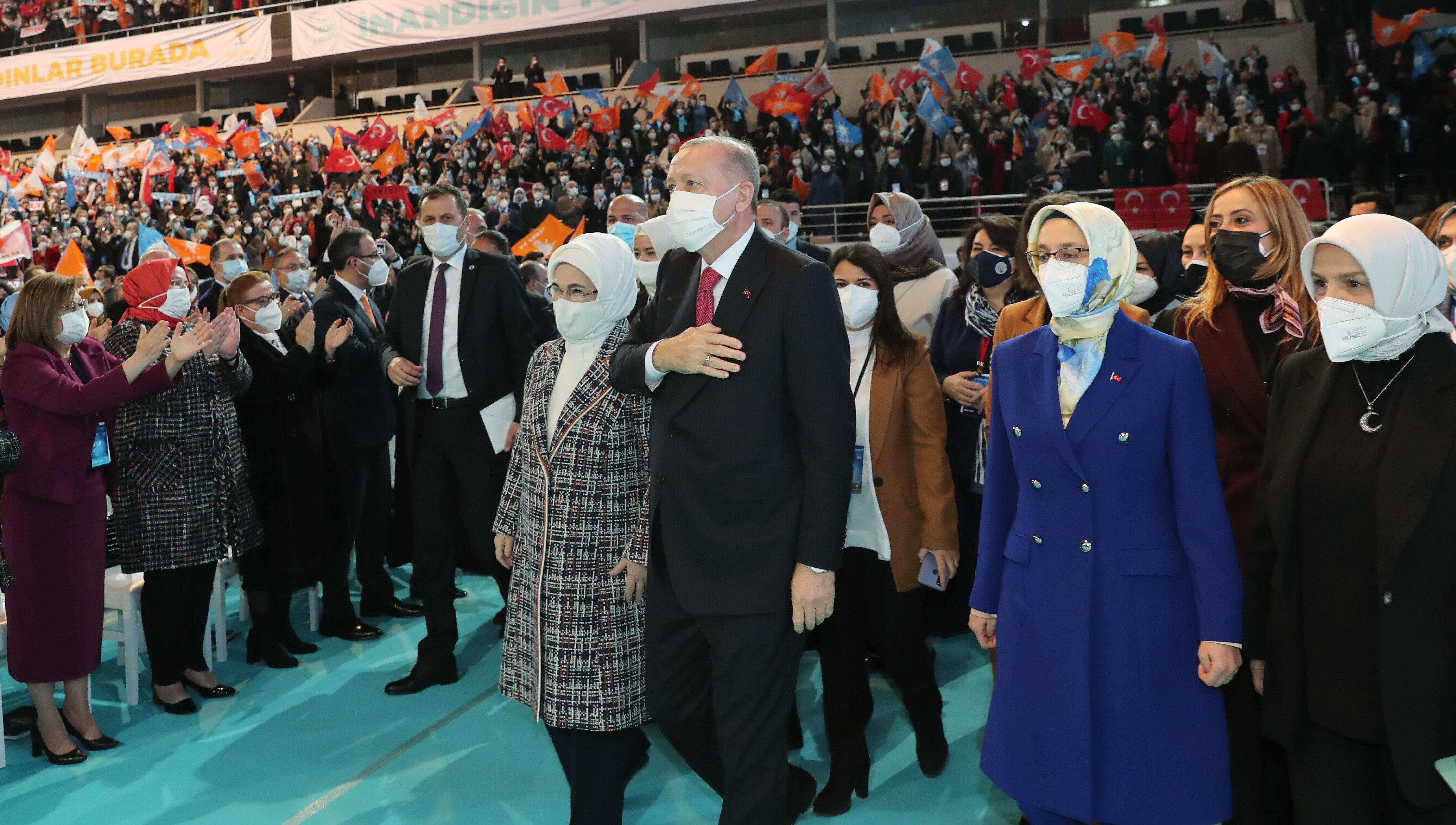 Cumhurbaşkanı ve AK Parti Genel Başkanı Recep Tayyip Erdoğan, AK Parti Kadın Kolları 6. Olağan Kongresi'ne katıldı.