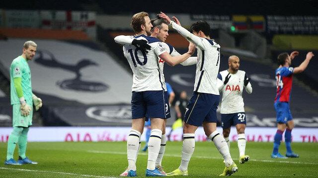 Tottenham, Crystal Palace'ı Bale ve Kane'in golleriyle farklı geçti (ÖZET)