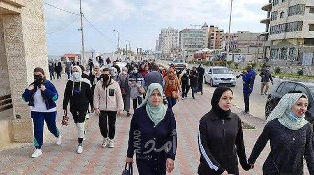 """""""خُطى واثقة"""".. فعالية رياضية بغزة بمناسبة يوم """"المرأة العالمي"""""""