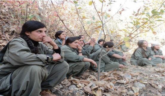 Yurt dışında yapılan birçok çalışmada ve medyaya yansıyan haberlerde, PKK'lı kadın teröristler;