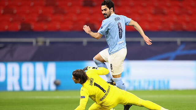 İlkay Gündoğan Şampiyonlar Ligi'ni de boş geçmedi: Manchester City çeyrek finalde (ÖZET)