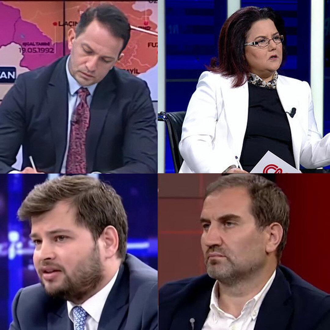 Mücahit Binici, Derya Yanık, Emre Cemil Ayvalı ve Mustafa Şen farlı televizyon kanallarında tartışma programlarına yorumcu olarak katılıyorlar.
