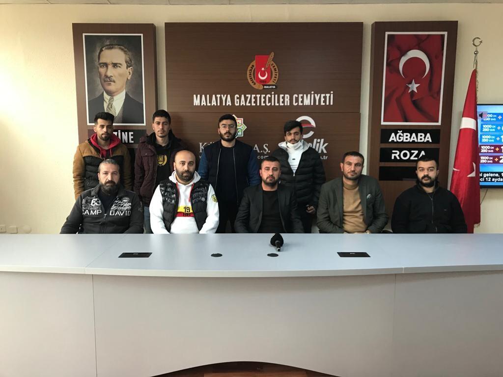 Ender Kaya, Malatyasporlu taraftarlar adına basın açıklamasında bulundu.