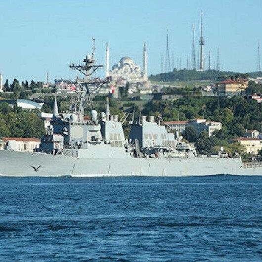 واشنطن تبلغ أنقرة بعبور سفينتين حربيتين أمريكيتين إلى البحر الأسود
