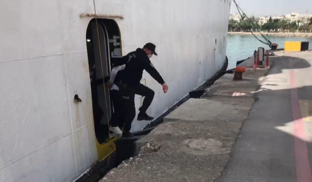 KKTC tarafından deport edilen şahıs, gemiyle Türkiye'ye gönderildi.