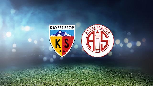 Kayserispor-Antalyaspor (CANLI)