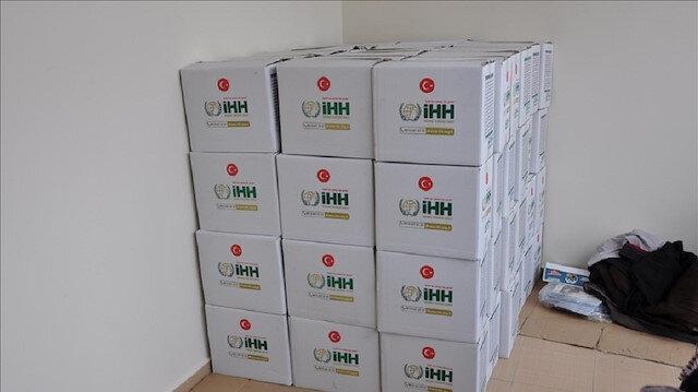 """اليمن.. """"الإغاثة التركية"""" توزع 200 سلة غذائية على فقراء المهرة"""