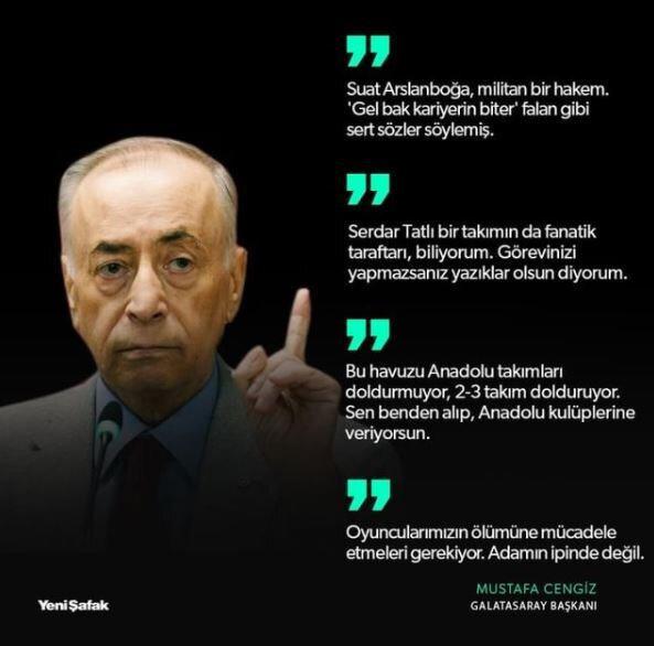Mustafa Cengiz'in önceki günlerde GS TV'de yapmış olduğu açıklamalar.