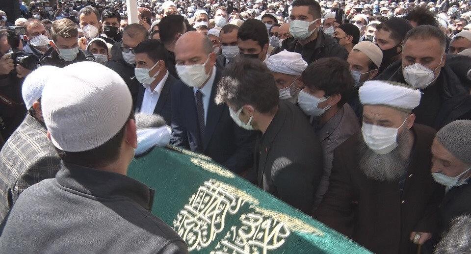 Cenazeye İçişleri Bakanı Süleyman Soylu da katıldı