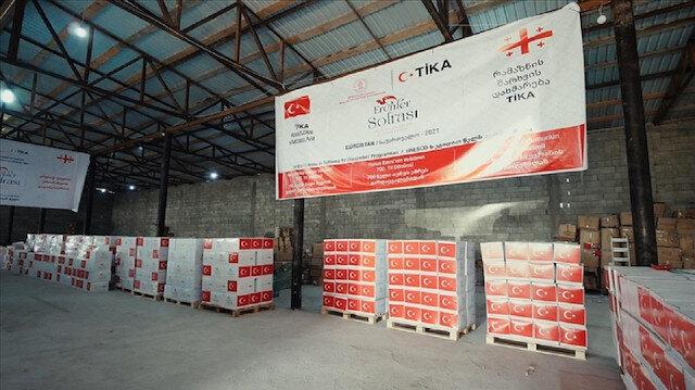 """رمضانيات.. """"تيكا"""" التركية تغيث محتاجين في جورجيا"""