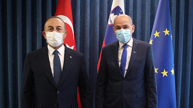 تشاووش أوغلو يبحث مع رئيس وزراء سلوفينيا العلاقات الثنائية
